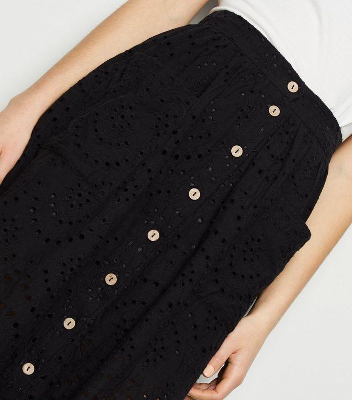 09009520b1 ... Black Broderie Pocket Font Midi Skirt. ×. ×. ×. Shop the look