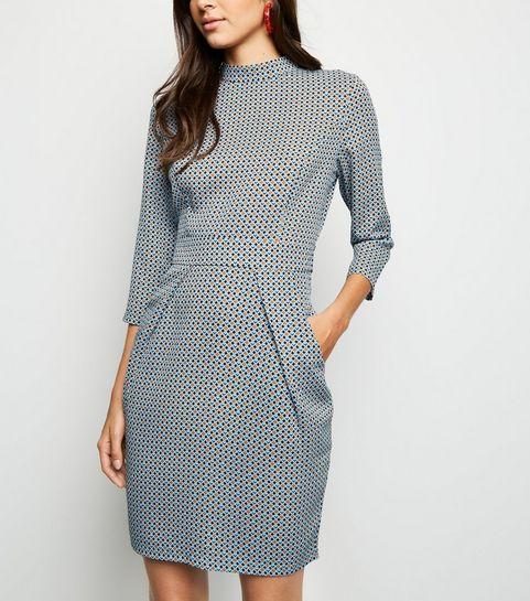 8ecc6a477ea ... Blue Vanilla Blue Geometric Tulip Dress ...