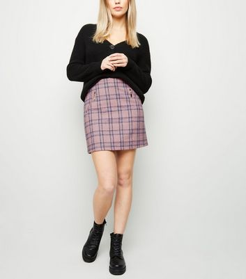 Blue Vanilla Pink Check Mini Skirt