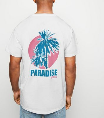 White Paradise Slogan T-Shirt