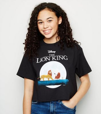 "Girls – Schwarzes Disney-T-Shirt mit ""Lion King""-Slogan"