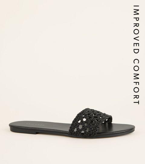 4db5cdf00e8f Black Woven Strap Sliders · Black Woven Strap Sliders ...