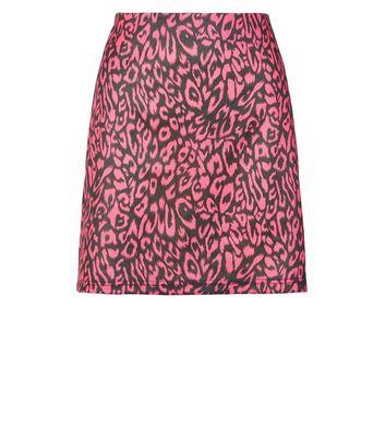 shop for Blue Vanilla Bright Pink Leopard Print Skirt New Look at Shopo