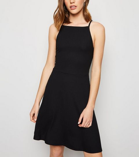 cef3bb2851c black skater dress new look – Little Black Dress