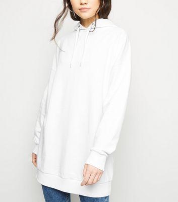 Cream Longline Hoodie by New Look