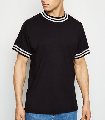 Black Tipped Short Sleeve T-Shirt