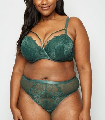 Curves Green Mesh Lace Thong