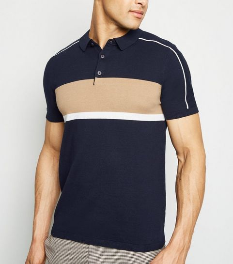 a7d8dcf0 Men's Knitted Polos | Knitted Polo Shirts | New Look