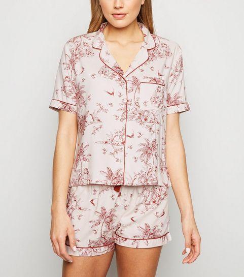 866b5af2dcbd ... White Scenic Print Pyjama Set ...