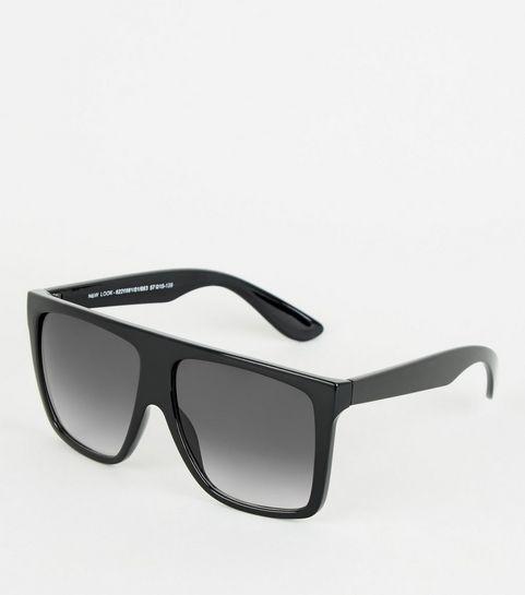 59a0b7329f76 Black Flat Top Oversized Sunglasses · Black Flat Top Oversized Sunglasses  ...