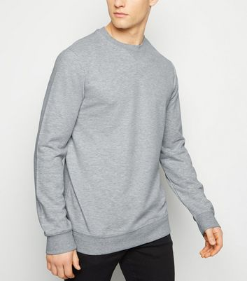 Grey Marl Crew Neck Long Sleeve Sweatshirt
