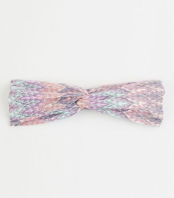 Multicoloured Zig Zag Knot Headband