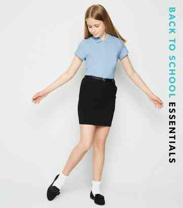 Girls Pale Blue Polo Shirt