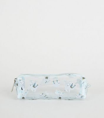 Multicoloured Sloth Print Pencil Case