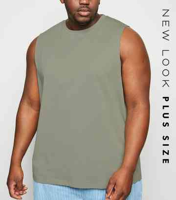 Plus Size Olive Tank Top