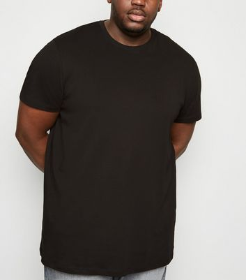 Plus Size Black Longline T-Shirt