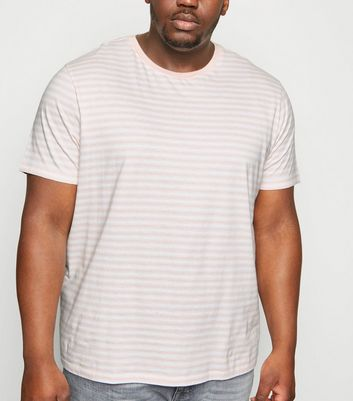 Plus Size Pink Stripe Crew T-Shirt