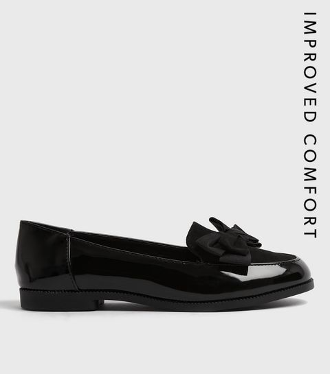 857172d804a4 Black Patent Bow Loafers · Black Patent Bow Loafers ...