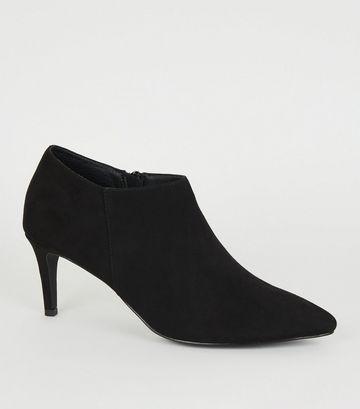 Black Pointed Stiletto Heel Shoe Boots
