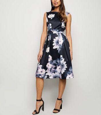 shop for Mela Black Floral Low Back Dress New Look at Shopo