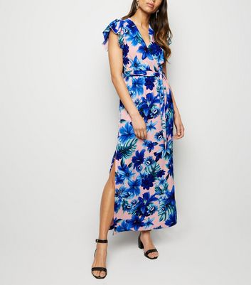 Mela Pink Tropical Floral Maxi Dress