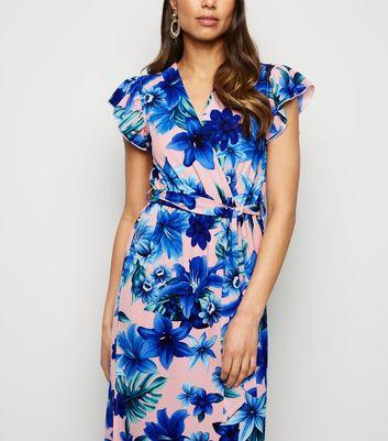shop for Mela Pink Tropical Floral Maxi Dress New Look at Shopo