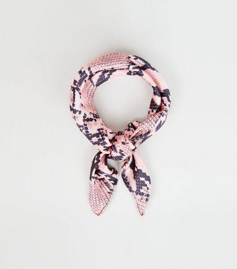 1b7367967048 ... Bandana rose moyen à motif peau de serpent ...