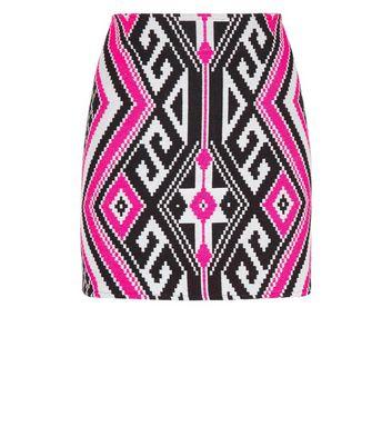 shop for Blue Vanilla Black Tile Woven Mini Skirt New Look at Shopo
