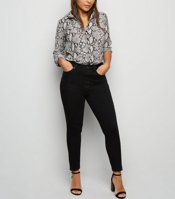 Petite Black 'Lift & Shape' Skinny Jeans