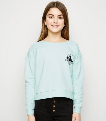 Girls Mint Green California Logo Sweatshirt