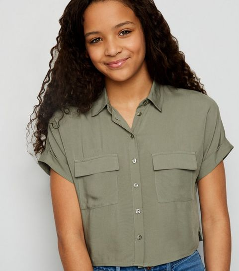 cd4126dceb Girls Khaki Utility Shirt · Girls Khaki Utility Shirt ...