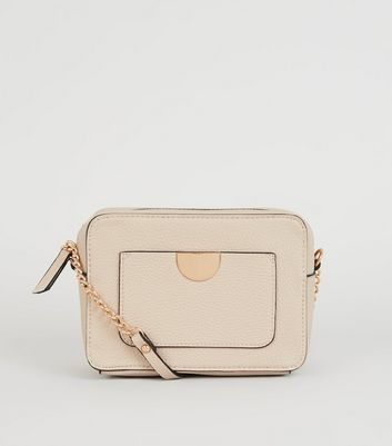 Nude Leather-Look Camera Bag