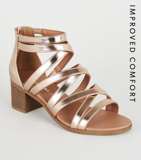 79bc6f86c6 Heeled Sandals | Barely There & Strappy Heeled Sandals | New Look