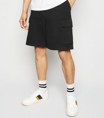 Black Cargo Pockets Utility Shorts
