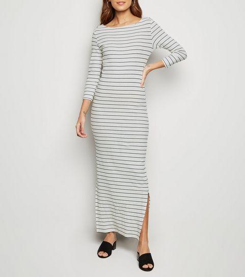 6bfe4d5cdfef1 ... JDY White Stripe Long Sleeve Maxi Dress ...