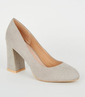 Grey Comfort Flex Flare Heel Courts