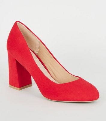 Red Comfort Flex Flare Heel Courts