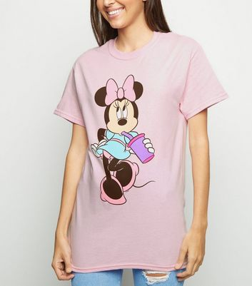Mittelrosa Oversize T Shirt mit Minnie Mouse mit Becher Für später speichern Von gespeicherten Artikeln entfernen