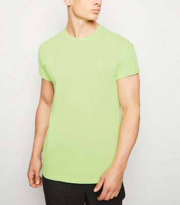 Light Green Roll Sleeve T-Shirt