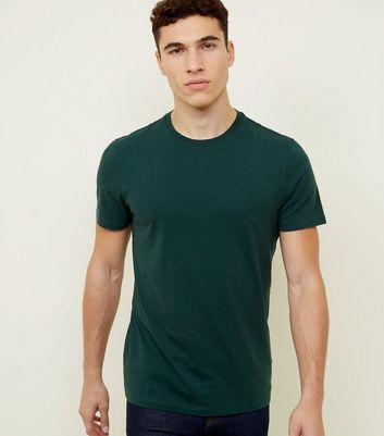Dark Green Crew Neck T-Shirt