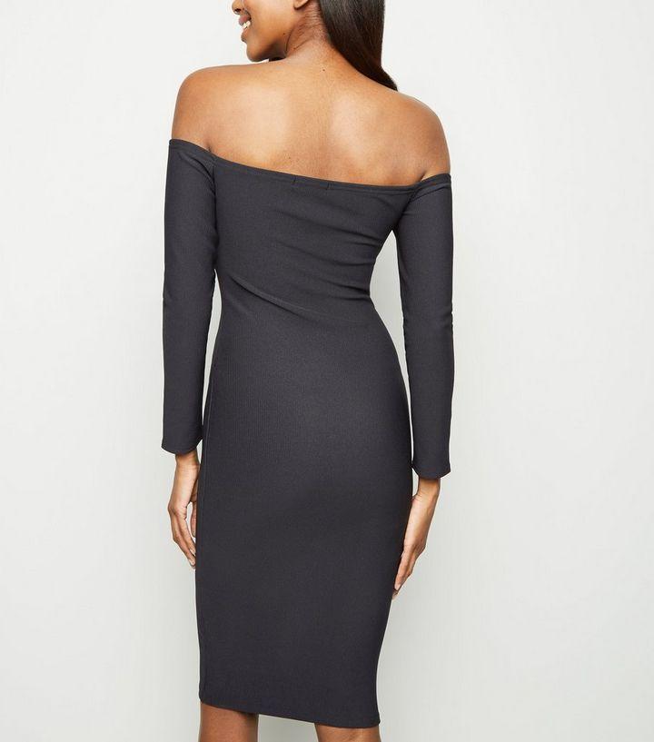 0b780468181b ... Black Bardot Buckle Long Sleeve Bodycon Dress. ×. ×. ×. Shop the look