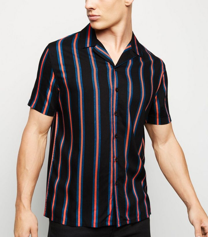 49cf3805bbf Black Vertical Stripe Short Sleeve Shirt Add to Saved Items Remove from  Saved Items