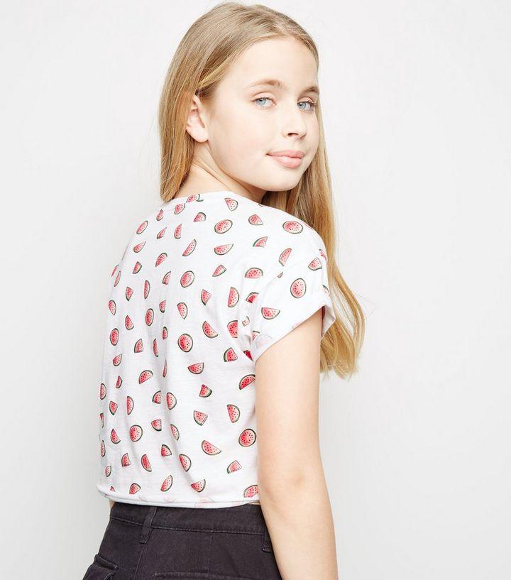 caf96466 ... Girls White Watermelon Print T-Shirt. ×. ×. ×. Shop the look