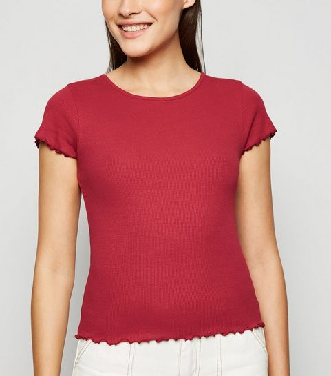 a002da2551ac Ribbed Tops | High Neck & Long Sleeve Ribbed Tops | New Look