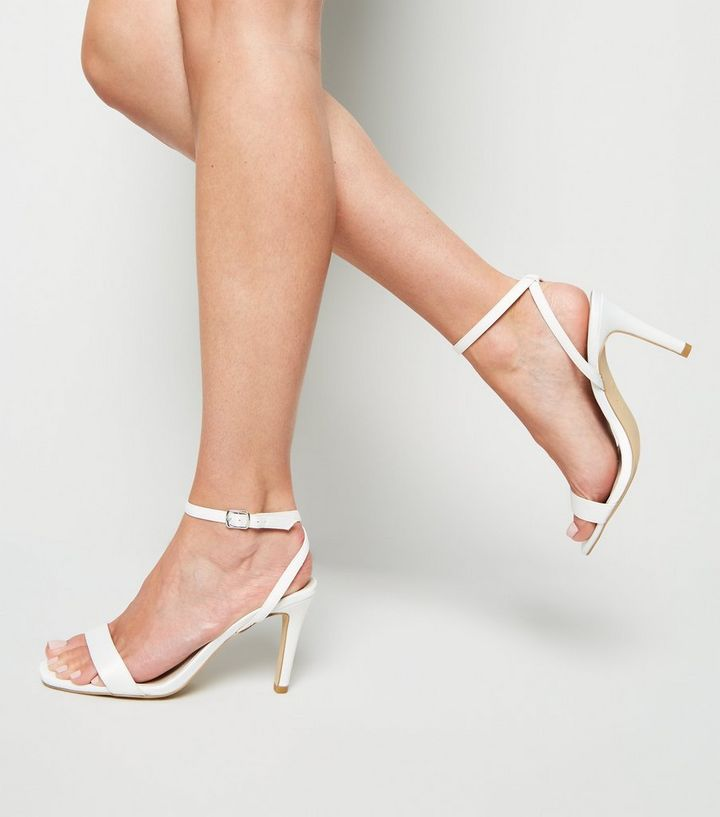 4dc921a220b Wide Fit Off White Satin 2 Part Heels Add to Saved Items Remove from Saved  Items