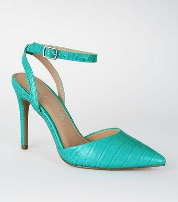 Escarpins bleu turquoise à effet croco et à deux parties Ajouter à la Wishlist Supprimer de la Wishlist