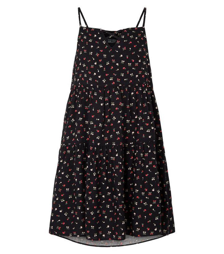 8f8a610495d ... Girls Black Floral Tiered Hem Dress. ×. ×. ×. Shop the look
