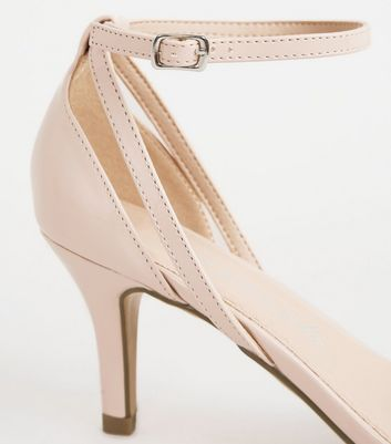 shop for Wide Fit Pale Pink Patent Strappy Stiletto Heels New Look Vegan at Shopo