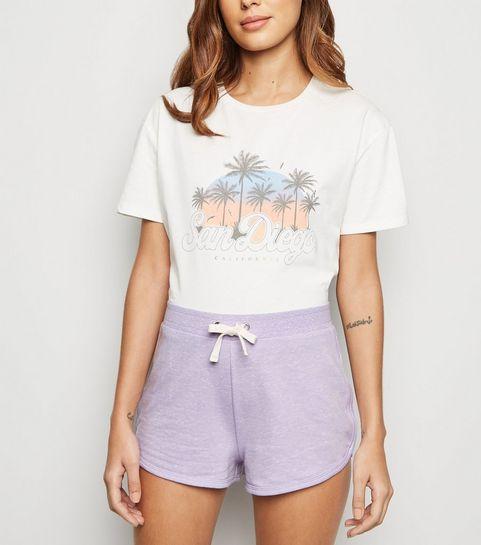 ee9e691e415226 Lilac Marl Mini Shorts · Lilac Marl Mini Shorts ...