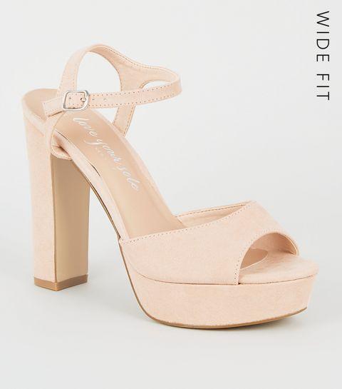 a323fabe89 Nude Heels | Nude Wedges, Platform Heels & Strappy Heels | New Look
